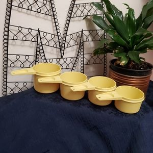 Vintage Yellow Tupperware measuring cups